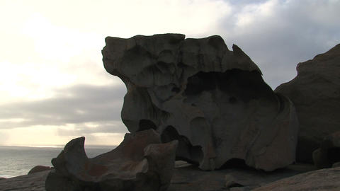 Remarkable Rock in the morning Footage