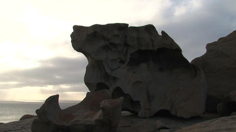 Remarkable Rock in the morning Stock Video Footage