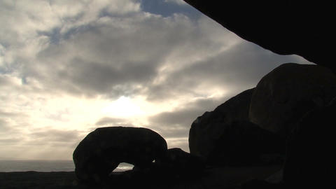Morning sunshine through the clouds above the Rema Footage