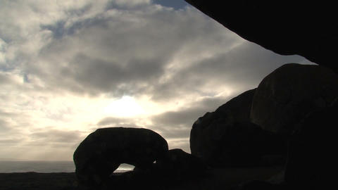 Morning sunshine through the clouds above the Rema Stock Video Footage