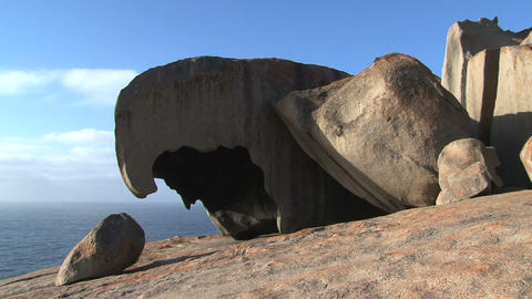 Remarkable Rocks in the morning Footage