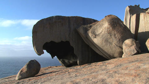 Remarkable Rocks in the morning Stock Video Footage