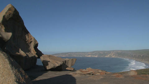 View from the Remarkable Rocks at the bay Stock Video Footage