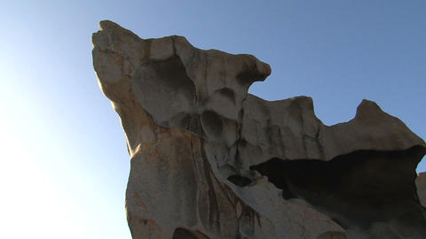Tilt from the Remarkable Rock Stock Video Footage