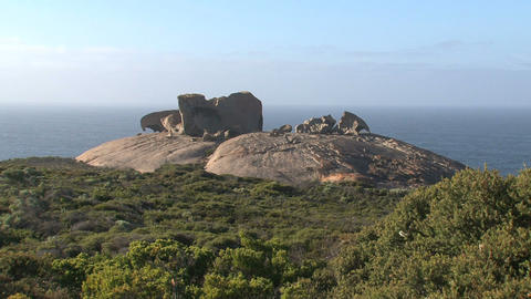 Overview from the Remarkable Rocks Stock Video Footage