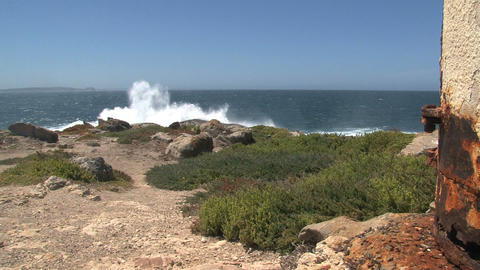 Wave collide at the rocks at Kangaroo Island Stock Video Footage
