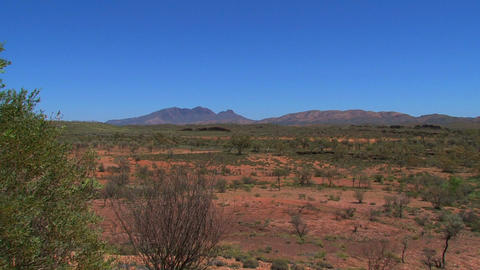 Zoom out from the MacDonnell Ranges Footage
