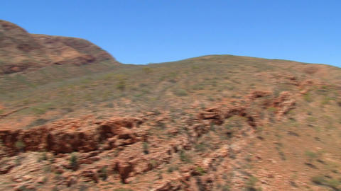 Pan from the mountains at the MacDonnell Ranges Footage