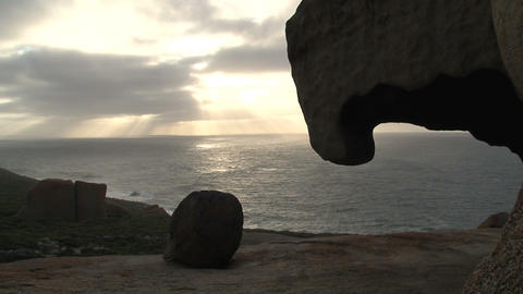 Remarkable Rocks time lapse Stock Video Footage