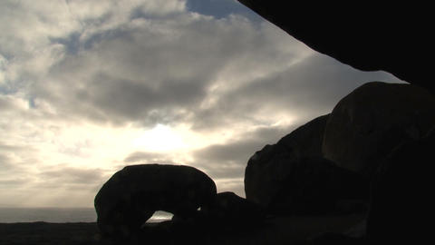 Sunshine through clouds time lapse Stock Video Footage