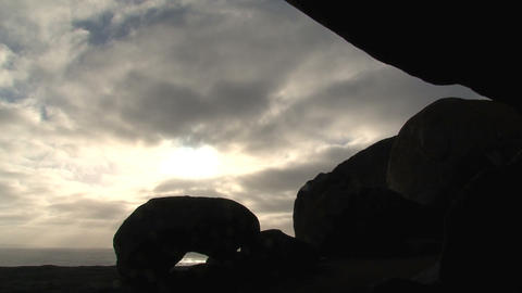 Sunshine through clouds time lapse Footage