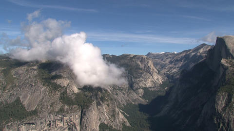 Clouds timelapse above Yosemite National Park Footage