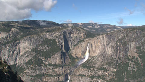 Yosemite National Park landscape Time lapse Stock Video Footage