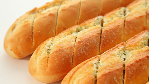 Garlic Baguette stock footage