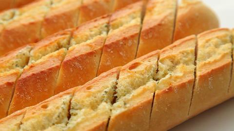 Garlic baguette Stock Video Footage