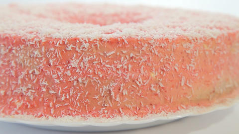 Strawberry cake Stock Video Footage