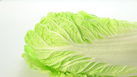 Beautiful green chinese cabbage Stock Video Footage