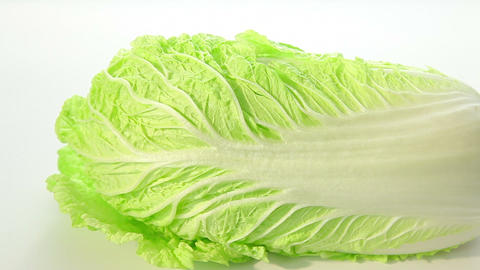 Beautiful green chinese cabbage Footage