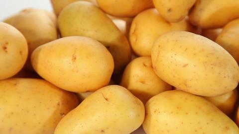 Potatoes - closeup Stock Video Footage