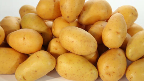 Fresh Potatoes stock footage
