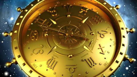 Golden Zodiac Gadget Stock Video Footage