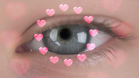 In the eyes - only love Stock Video Footage