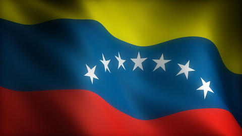 Flag of Venezuela Stock Video Footage