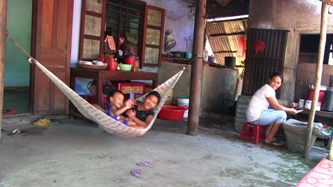 resting for Vietnam family Stock Video Footage