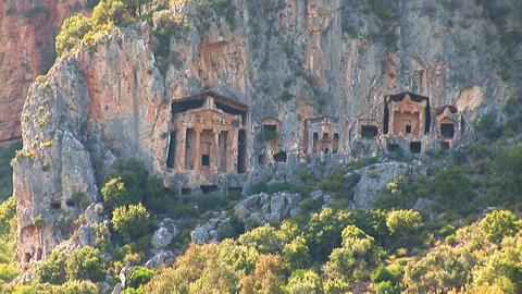 Lycian tombs Footage