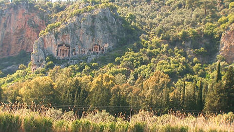 Lycian tombs Stock Video Footage
