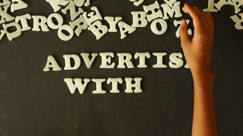 Advertise With Us Stock Video Footage
