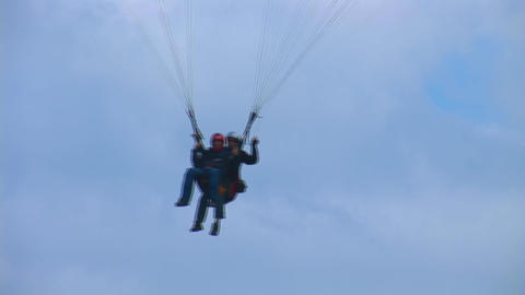 Paraglider lands Stock Video Footage
