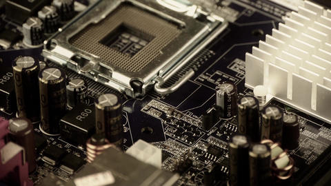 Computer circuit board rotating Stock Video Footage