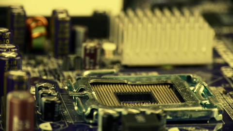 computer motherboard,electronic circuit board Stock Video Footage