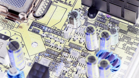 computer main board,electronic circuit assembly rotating Stock Video Footage