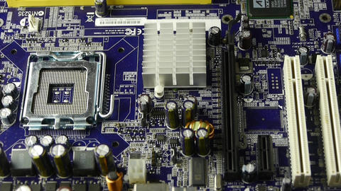 computer main board,assembly circuit Stock Video Footage