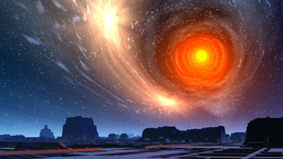 White hole and city of aliens Animation