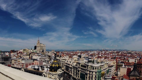Madrid. Top view. Timelapse Footage