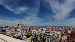 Madrid. Top view. Timelapse Stock Video Footage