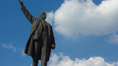 Monument To Vladimir Lenin stock footage