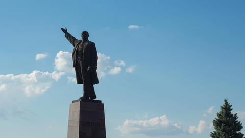 Monument to Vladimir Lenin Stock Video Footage