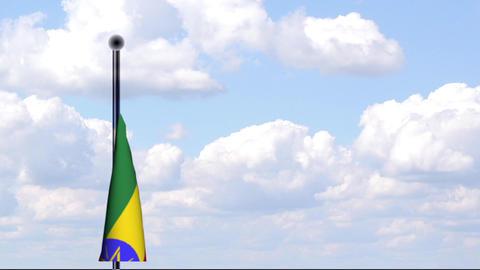 Animated Flag of Ethiopia / Äthiopien Stock Video Footage