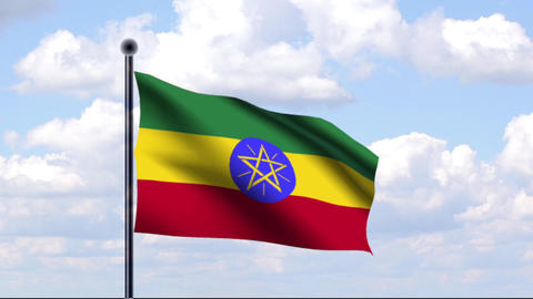 Animated Flag of Ethiopia / Äthiopien Animation