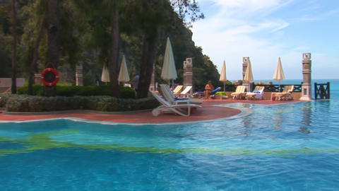 sea and pool Stock Video Footage