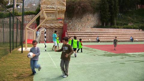 boys play football Stock Video Footage