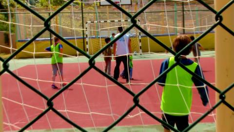 boys play football Footage