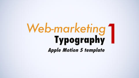 Web Marketing Typo I Apple Motion Template