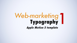 Web Marketing Typo I Apple Motionテンプレート