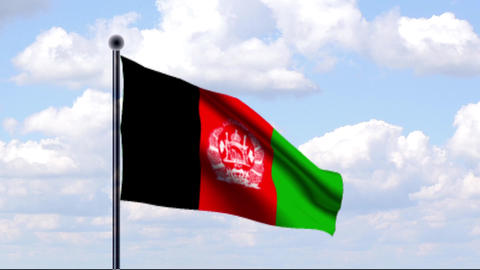 Animated Flag of Afghanistan Animation