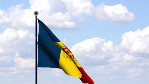 Animated Flag of Andorra Stock Video Footage